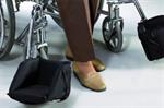 Wheelchair Swing - Away Foot Support