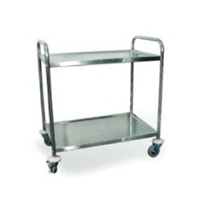 Two Shelf Lightweight Stainless Steel Trolley | CHT2