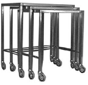 Nestable Trolleys | Flat-top | SS32