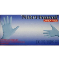Blue Hypoallegenic Nitrile Powder Free Exam Gloves