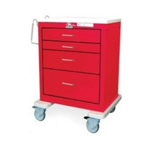 Steel Resuscitation Carts | Waterloo USRLU-4369-RED