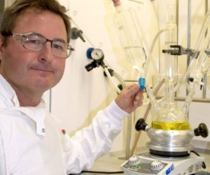 "Dr Robert Reid searches for the ""holy grail in chemistry"". - Image courtesy of The University of Queensland."