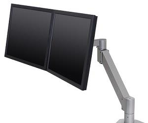"Ergomotion's 7Flex Monitor Arm and 7500 Wing Monitor Arm (pictured) come with a special hardware called ""FLEXmount"", which means they're fitted with six mounting options suited to almost any setting."