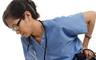 Preventing chronic back pain in healthcare professionals