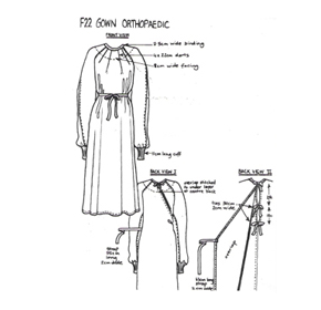 Hospital Gowns | F22 Orthopaedic Gown (Traditional)