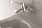 Wall Mounted Thermostatic Surgeon Mixer | Aquablend SQX