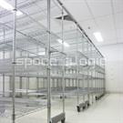 Shelving with Overhead Rail | Cleanspan