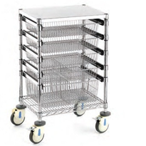 Small Sliding Basket Trolley | Rapini R2701
