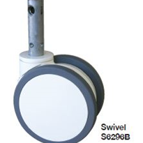 Central Locking Medical Castors with Twin Wheel | ABS