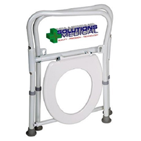 Over Toilet Folding Seat Chair Frame