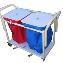 Laundry Trolley | Twin bag