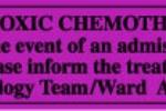 Pathology Labels - Cytotoxic Chemotherapy (laminated)
