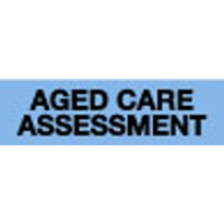 Medical Labels - Aged Care Assessment